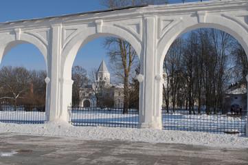 Фрагмент аркады Гостиного двора. Великий Новгород