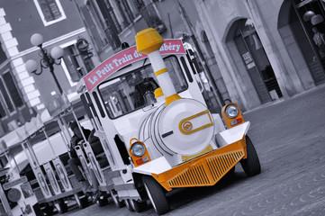 animation à Chambéry,petit train électrique