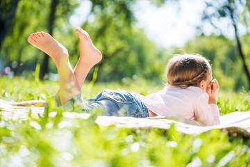 Kid in park