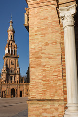 South Tower at Plaza de Espana in Seville