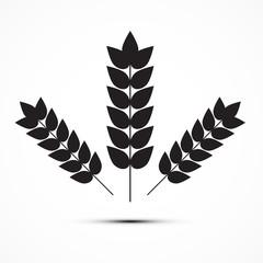 Vector Ears of Wheat Icon Illustration