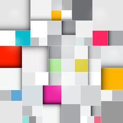 Vector Retro Square Background