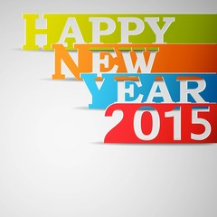 Happy New Year 2015 Paper Strips.