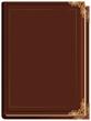Brown closed book - 68512392