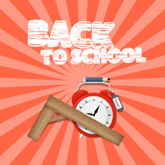 Vector Back to School Retro Illustration