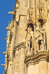 King and knight, detail from saint Stephen's catedral at Vienna