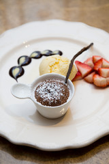 chocolate fondue sweet dessert