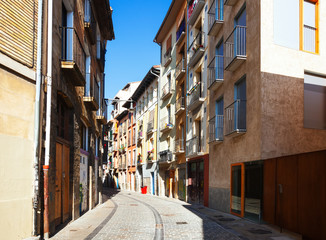 Ordinary street of european city. Pamplona