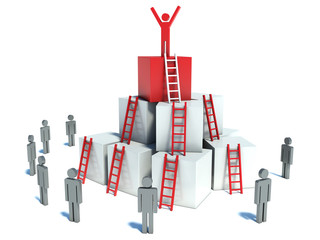 abstract business progress, development, success, leadership and