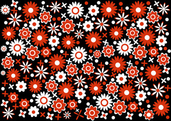color vector flowers wallpaper design