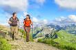 Bergwanderung zu zweit