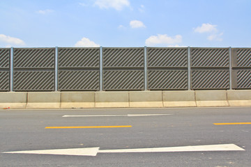 Concrete plate to protect the noice from highway