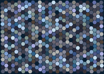 hexagons mosaic tiles vector background