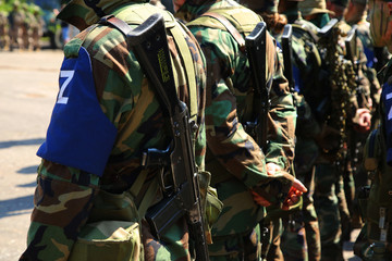 Soldiers with weapon
