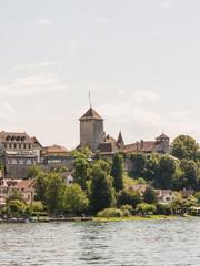 Murten, historische Altstadt, Schloss, Murtensee, Schweiz