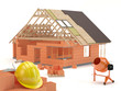 House construction scene