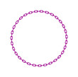 Purple chain in shape of circle