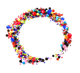 Colorful Circle Beads Decoration