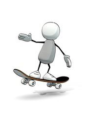 little sketchy man on a skateboard
