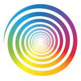 Rainbow Color Gradient Spiral White