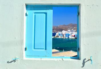 Window into beauty of Greece - Mykonos