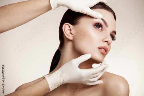 Beautiful Woman before Plastic Surgery Operation Cosmetology. Be - 68517996