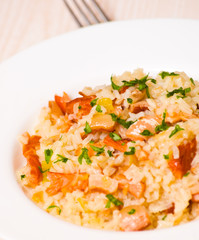 risotto with fish