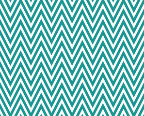 Teal and White Zigzag Textured Fabric Repeat Pattern Background