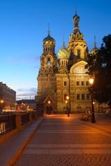 Night view on Russia Church Spas na Krovi, St. Petersburg