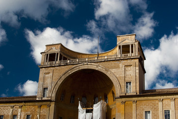 Vatican City.Cortile della Pigna
