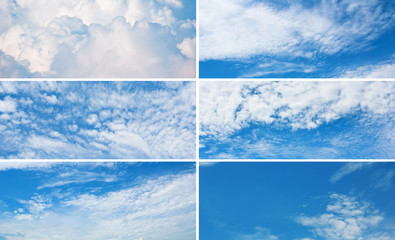 Collection of horizontal sky banners