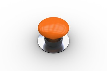 Digitally generated shiny orange push button