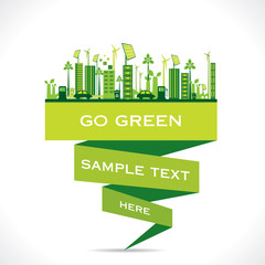 creative green eco-friendly city design background vector
