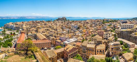 Panoramic view of Corfu city