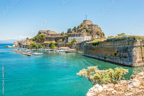 Foto Spatwand Vestingwerk The Old Fortress of Corfu