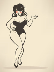 plus size pin up girl