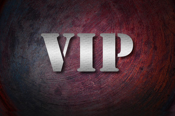 VIP text on Background