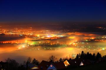 Lindau am Bodensee im Nebel
