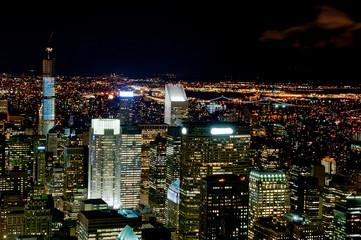 New York city by night
