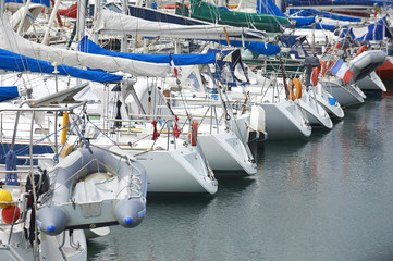 yacht in marina