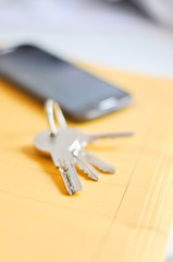 Keys on a desk