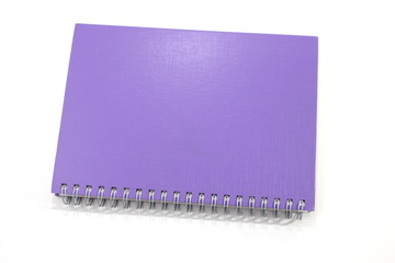 business notebook isolated on white background.