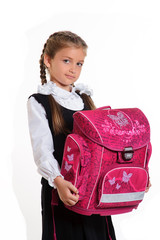 schoolgirl with briefcase