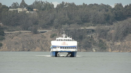 Ferry boat in the San Francisco bay, California