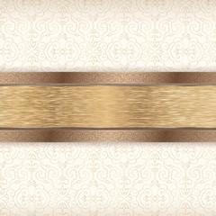 Damascus. Gold pattern.