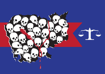 Justice for Genocide Victims Forming Cambodia Map