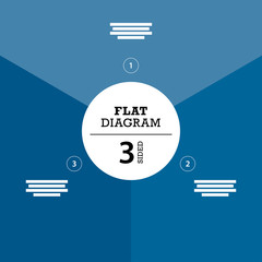 Blue three sided full background flat stripe diagram vector