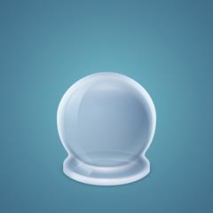 Inverted round-bottom flask