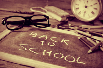 back to school in duotone