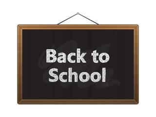 Black chalkboard back to school